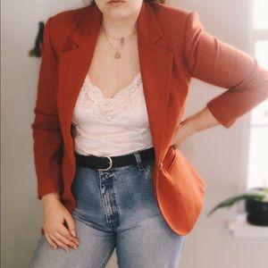 Vintage / 90s Pumpkin Blazer
